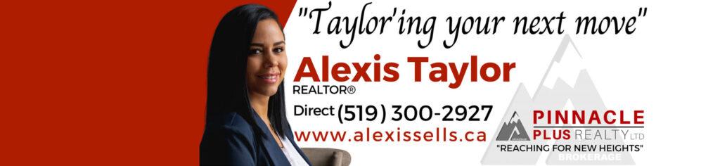 Alexis Taylor (Realtor) – Pinnacle Plus Realty LTD